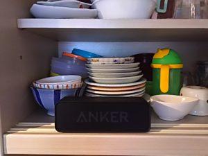 台所にbluetoothスピーカー2